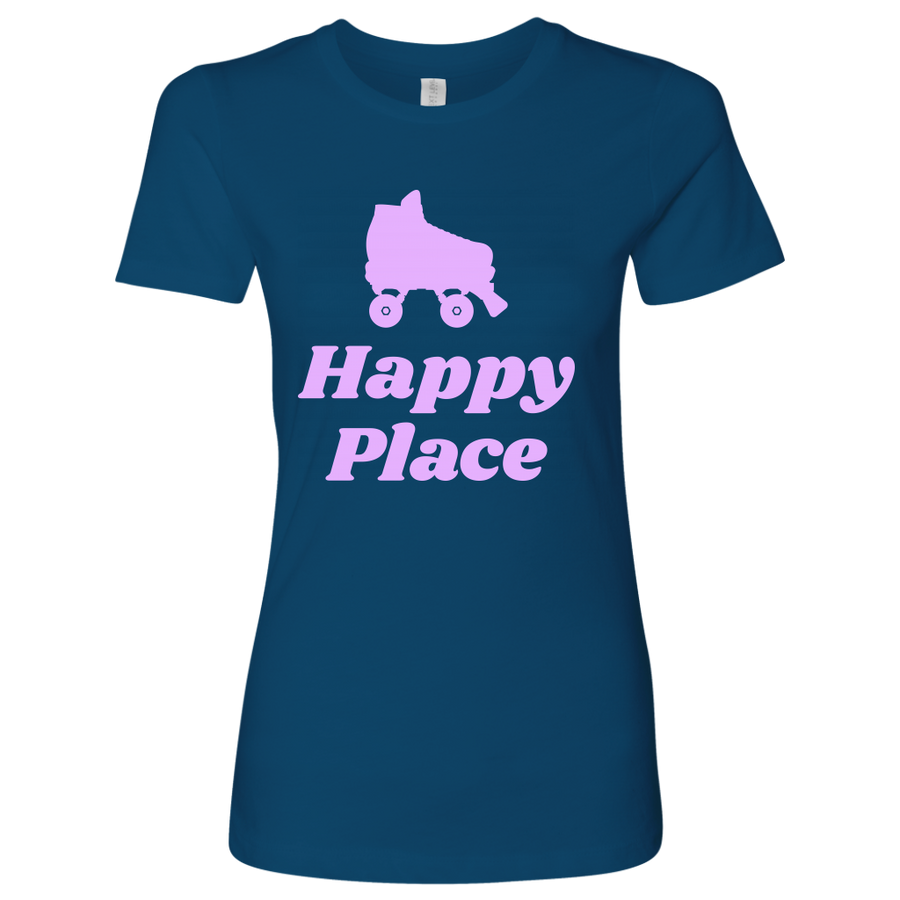 Womens Shirt - Happy Place - Roller Derby themed apparel by RollerDerby.Love