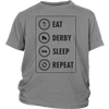 Youth Shirt - Eat Derby Sleep - Roller Derby themed apparel by RollerDerby.Love