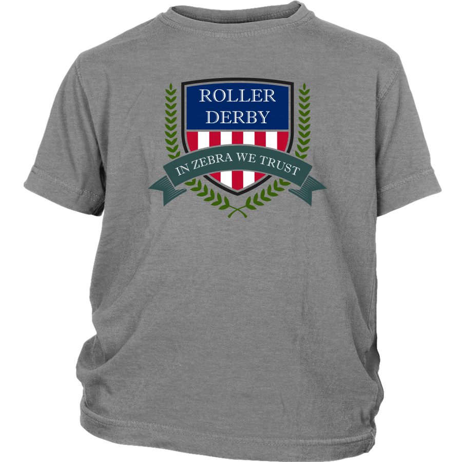 Youth Shirt - In Zebra We Trust - Roller Derby themed apparel by RollerDerby.Love