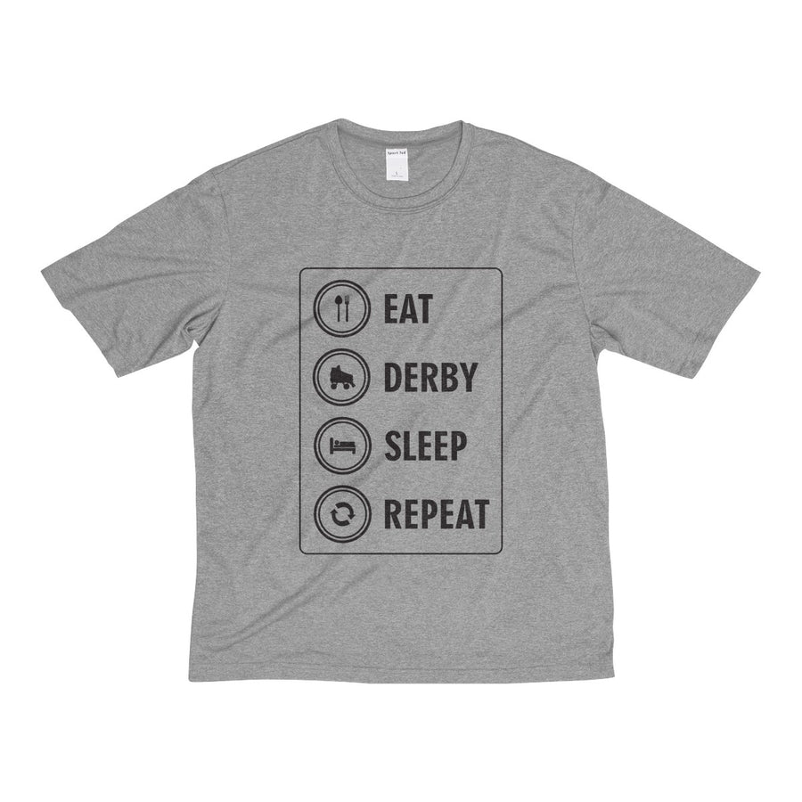 Men's Heather Dri-Fit Tee - Roller Derby themed apparel by RollerDerby.Love