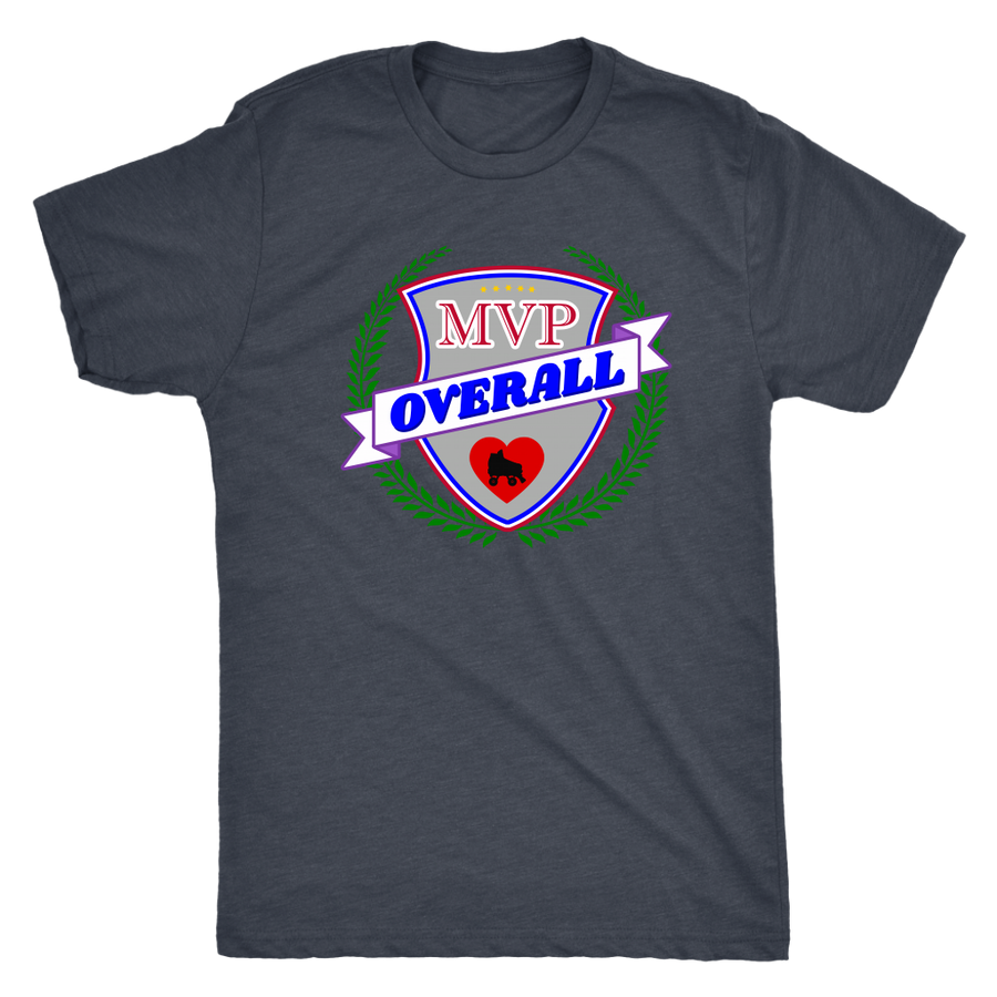 Mens Triblend - MVP Overall - Roller Derby themed apparel by RollerDerby.Love