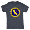 Mens Triblend - California Seal of Roller Derby Derby themed apparel - Roller Derby Love