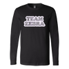 Canvas Long Sleeve - Team Zebra - Roller Derby themed apparel by RollerDerby.Love