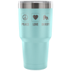 Tumbler - Peace Love Derby Derby themed apparel - Roller Derby Love