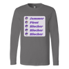 Canvas Long Sleeve - Jammer Pivot Blocker - Roller Derby themed apparel by RollerDerby.Love
