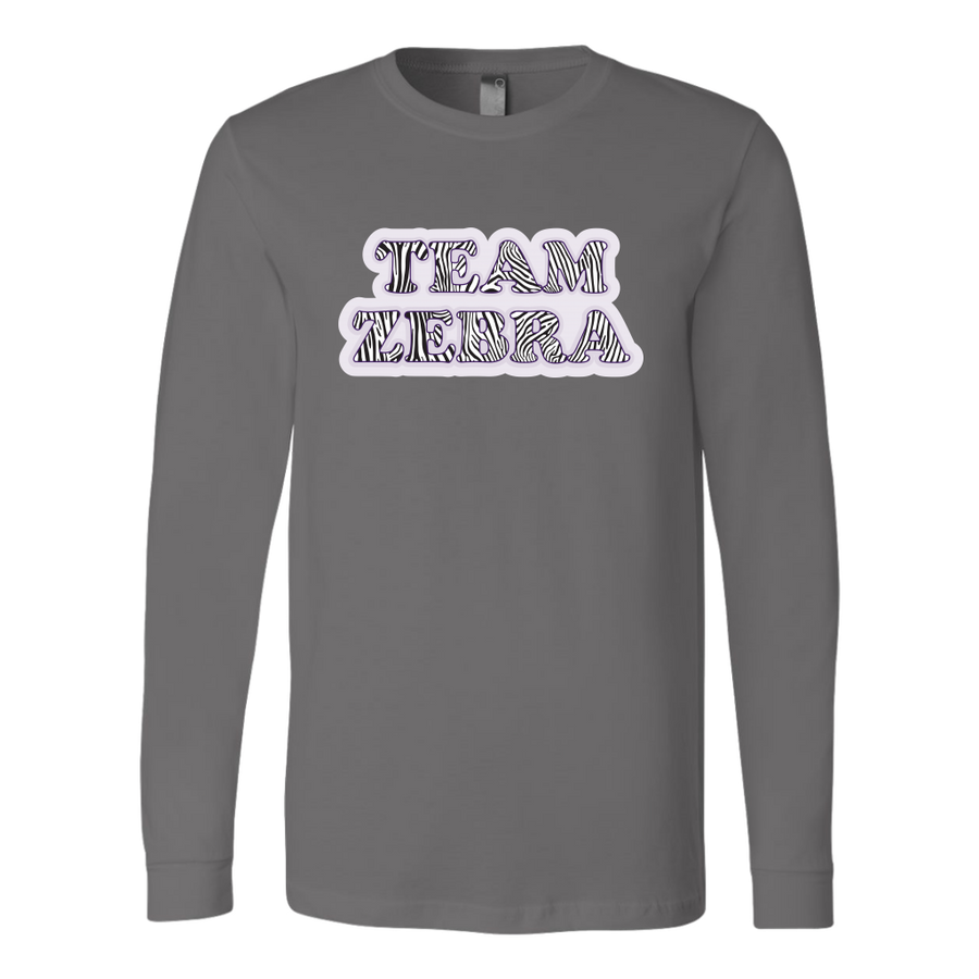 Canvas Long Sleeve - Team Zebra Derby themed apparel - Roller Derby Love