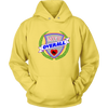 Unisex Hoodie - MVP Overall Derby themed apparel - Roller Derby Love