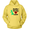 Unisex Hoodie - Roller Derby Love - UK Derby themed apparel - Roller Derby Love