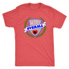 Mens Triblend - MVP Overall Derby themed apparel - Roller Derby Love