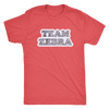 Mens Triblend - Team Zebra Derby themed apparel - Roller Derby Love