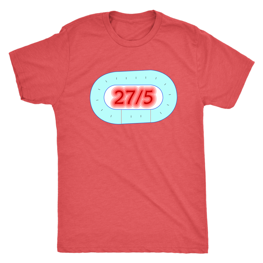 Mens Triblend - 27 in 5 - Roller Derby themed apparel by RollerDerby.Love
