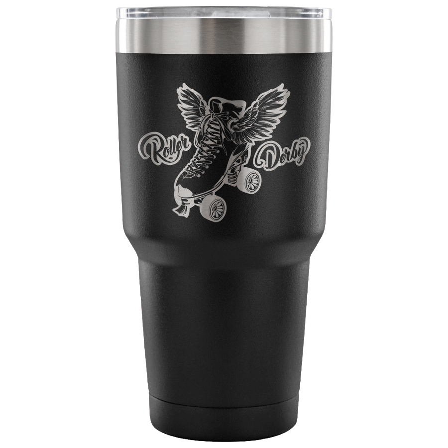 Tumbler - Skate With Wings - Roller Derby themed apparel by RollerDerby.Love