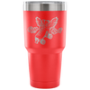 Tumbler - Skate With Wings Derby themed apparel - Roller Derby Love