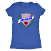 Womens Triblend - MVP Jammer Derby themed apparel - Roller Derby Love