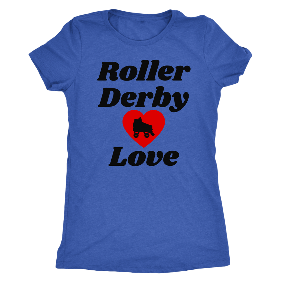 Women's Triblend - Roller Derby Love - Roller Derby themed apparel by RollerDerby.Love