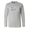 Canvas Long Sleeve - Team Zebra
