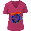 Women's V-Neck - Flaming Skates
