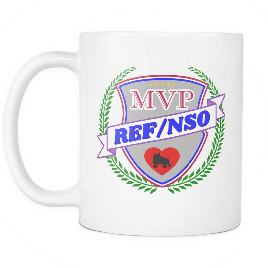Mug - MVP Ref/NSO Derby themed apparel - Roller Derby Love