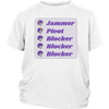 Youth Shirt - Jammer Pivot Blocker - Roller Derby themed apparel by RollerDerby.Love