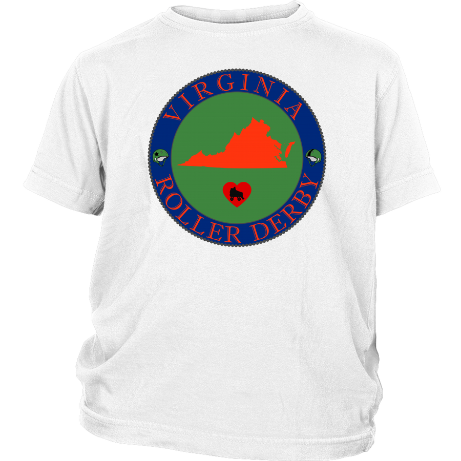 Youth Shirt - Virginia Seal of Roller Derby - Roller Derby themed apparel by RollerDerby.Love