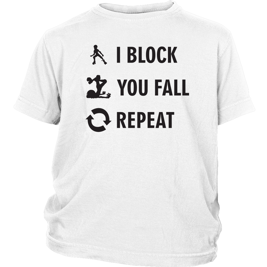 Youth Shirt - I Block You Fall