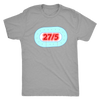 Mens Triblend - 27 in 5 Derby themed apparel - Roller Derby Love