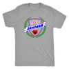 Mens Triblend - MVP Jammer Derby themed apparel - Roller Derby Love