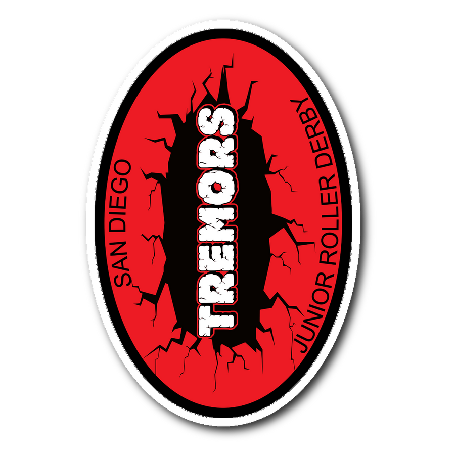 Sticker - San Diego Tremors Derby themed apparel - Roller Derby Love