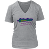 Women's V-Neck - Troublemaker - Roller Derby themed apparel by RollerDerby.Love