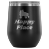 Wine Tumbler - Happy Place - Roller Derby themed apparel by RollerDerby.Love