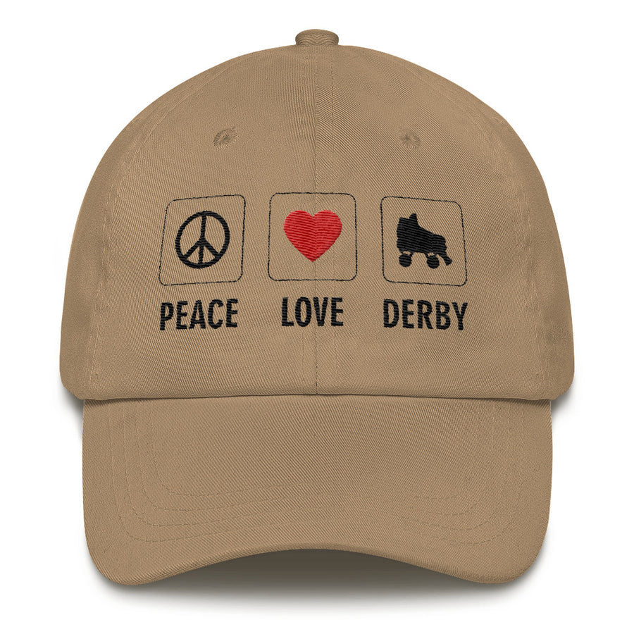 Dad hat - Peace Love Derby