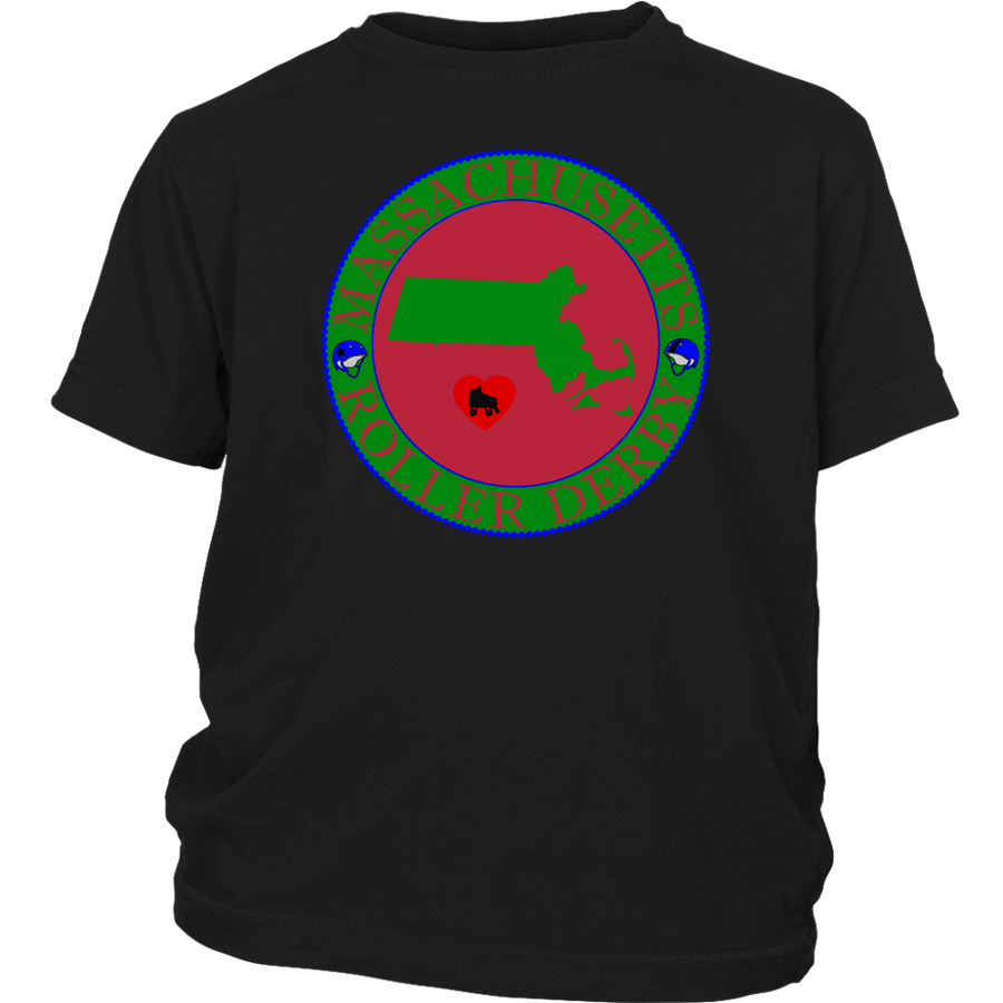 Youth Shirt - Massachusetts Seal of Roller Derby