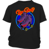 Youth Shirt - Flaming Skates Derby themed apparel - Roller Derby Love