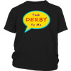 Youth Shirt - Talk Derby To Me Derby themed apparel - Roller Derby Love