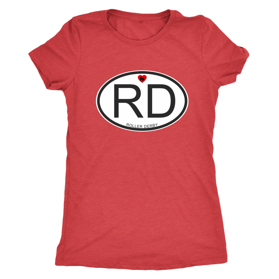 Womens Triblend - RD - Roller Derby themed apparel by RollerDerby.Love