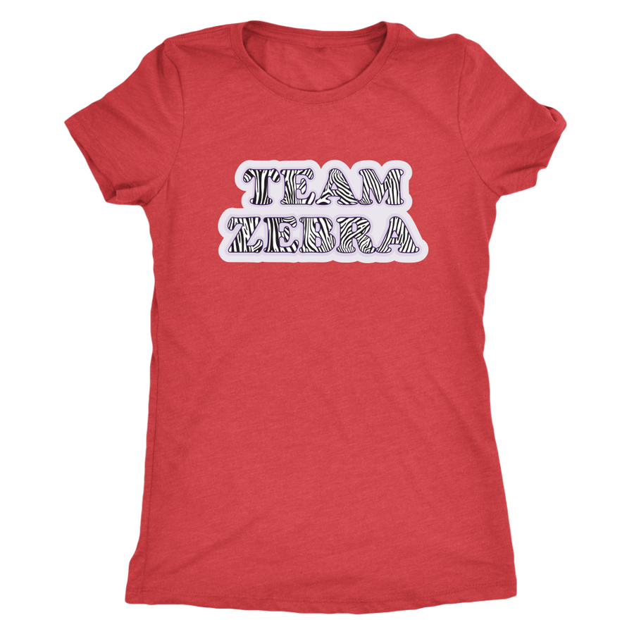 Womens Triblend - Team Zebra Derby themed apparel - Roller Derby Love