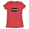 Womens Triblend - San Diego Tremors Derby themed apparel - Roller Derby Love