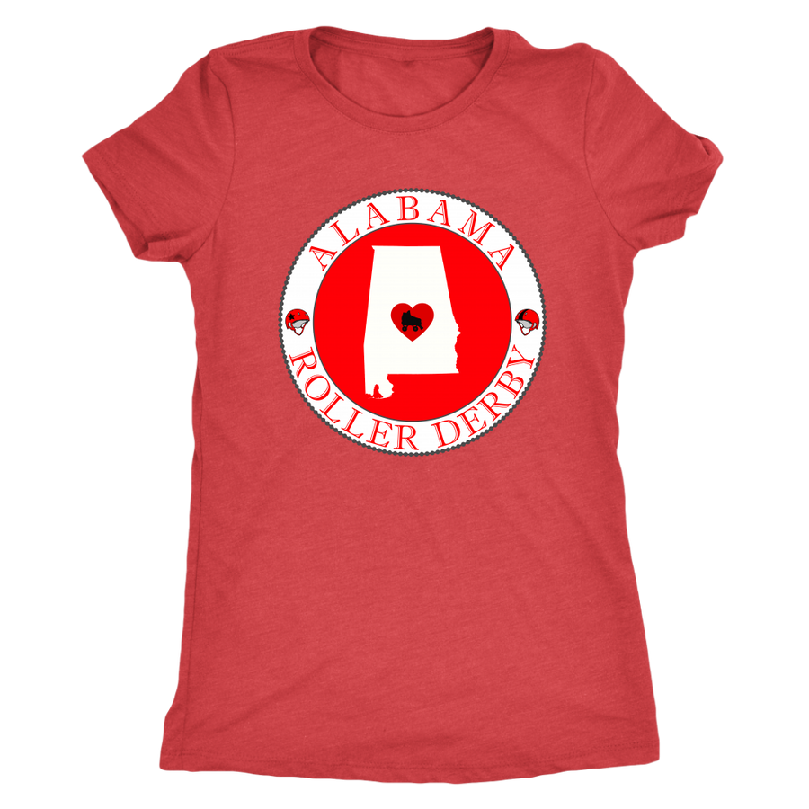 Womens Triblend - Alabama Seal of Roller Derby