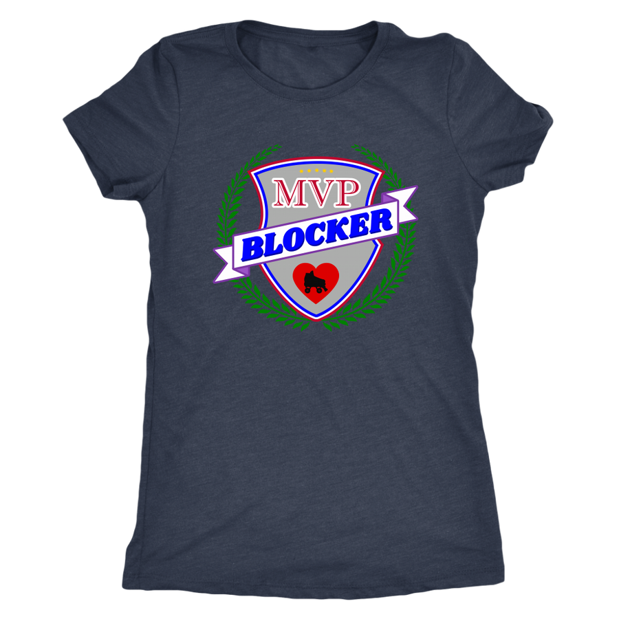Womens Triblend - MVP Blocker Derby themed apparel - Roller Derby Love
