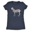 Womens Triblend - Zebra on Skates - Roller Derby themed apparel by RollerDerby.Love