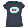 Womens Triblend - 27 in 5 Derby themed apparel - Roller Derby Love
