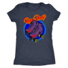 Women's Triblend - Flaming Skates Derby themed apparel - Roller Derby Love