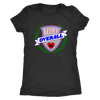 Womens Triblend - MVP Overall Derby themed apparel - Roller Derby Love
