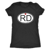 Womens Triblend - RD Derby themed apparel - Roller Derby Love