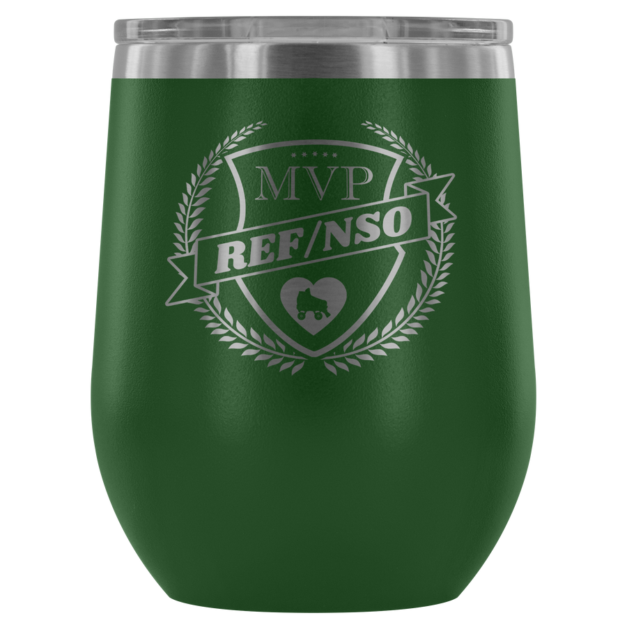 Wine Tumbler - MVP Ref/NSO - Roller Derby themed apparel by RollerDerby.Love