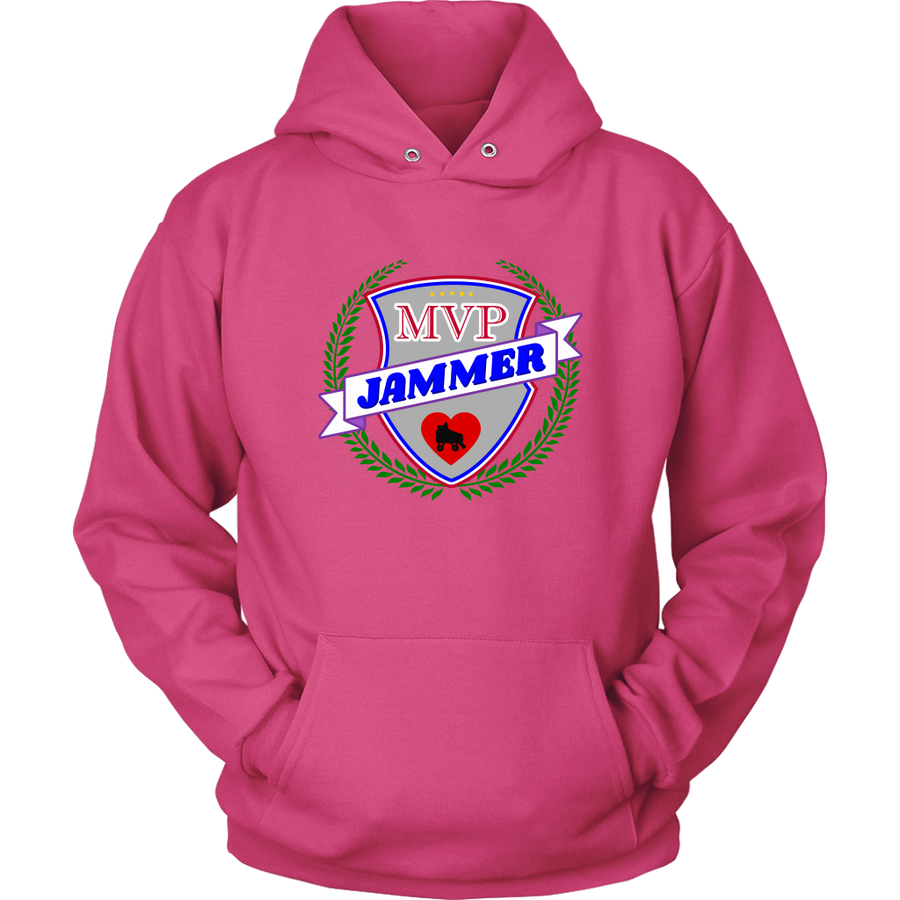 Unisex Hoodie - MVP Jammer - Roller Derby themed apparel by RollerDerby.Love