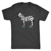 Mens Triblend - Zebra on Skates - Roller Derby themed apparel by RollerDerby.Love
