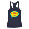 Racerback Tank - Talk Derby To Me - Roller Derby themed apparel by RollerDerby.Love