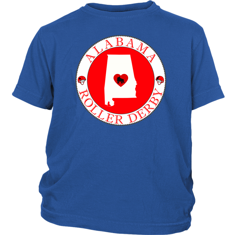 Youth Shirt - Alabama Seal of Roller Derby - Roller Derby themed apparel by RollerDerby.Love