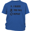 Youth Shirt - I Block You Fall - Roller Derby themed apparel by RollerDerby.Love